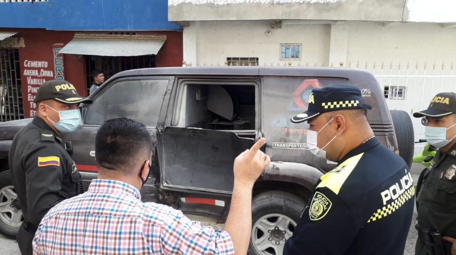 Siete delincuentes robaron dinero de camión de valores en Cartagena