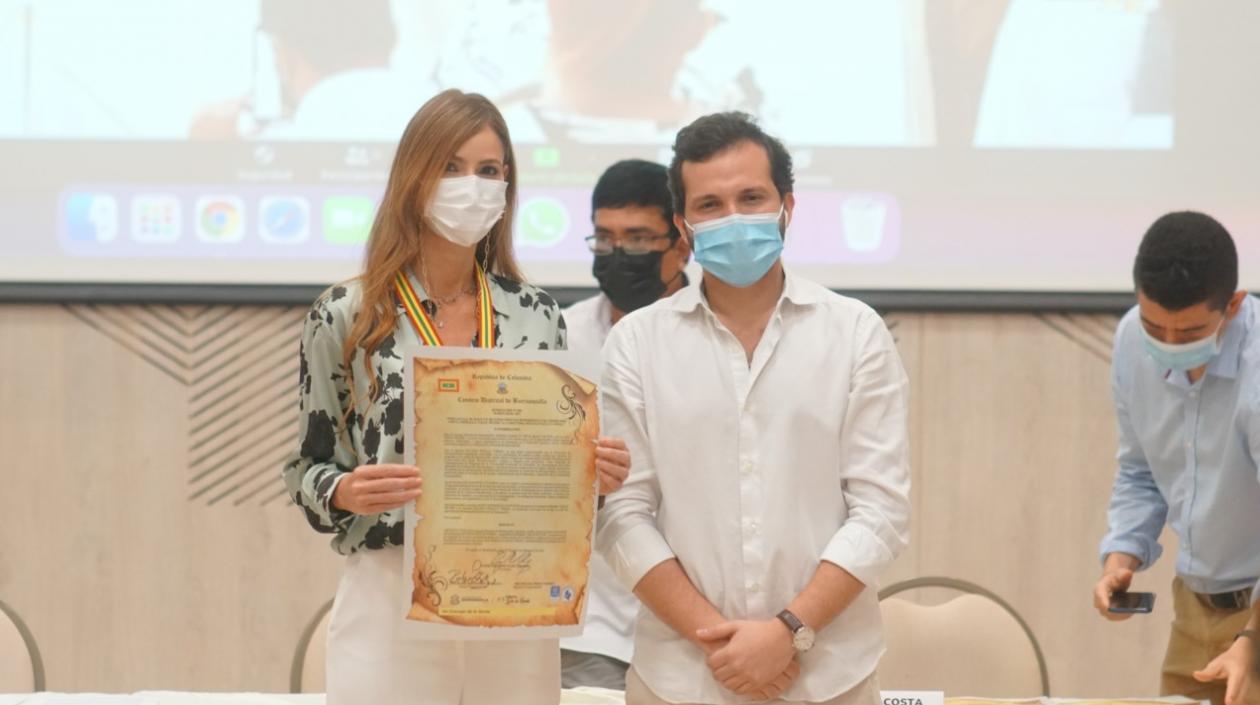 Concejo de Barranquilla otorgó la medalla de Gran Mujer a la primera dama Silvana Puello – @alcaldiabquilla