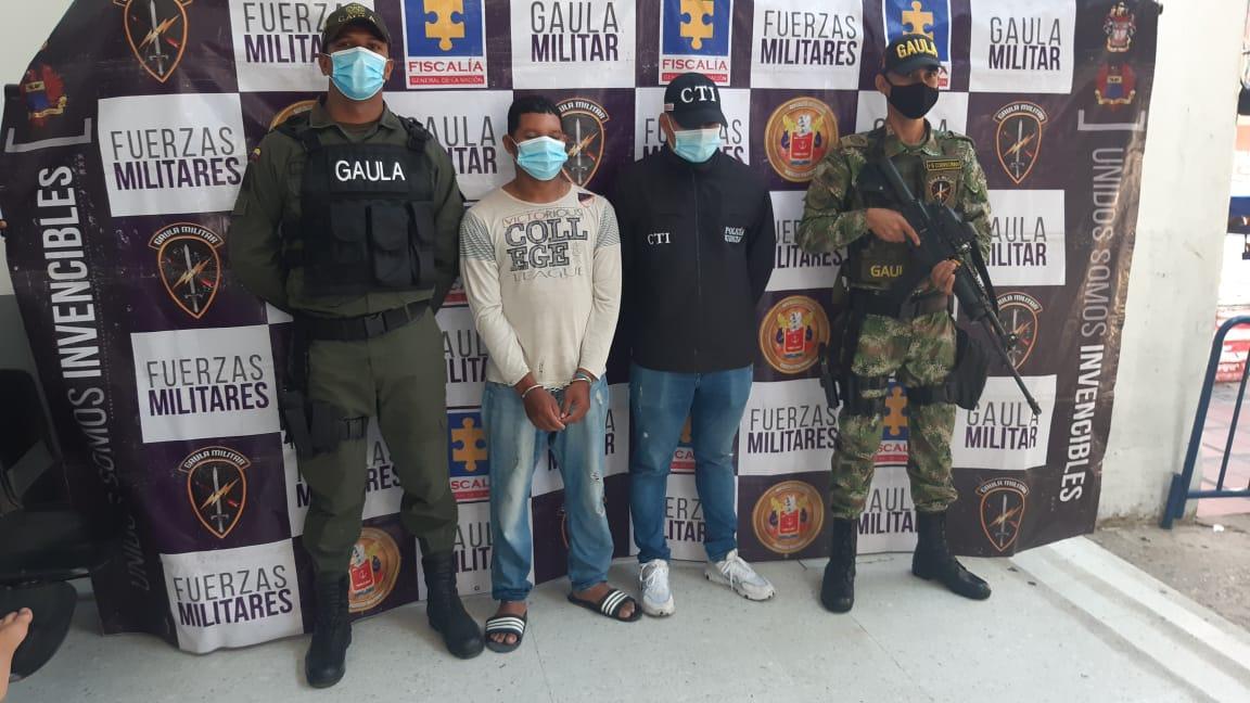 Capturan de una persona por el delito de extorsión en el barrio san roque de Barranquilla
