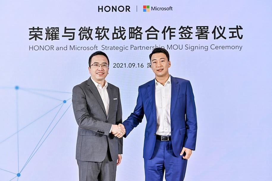 HONOR anuncia alianza estratégica con Microsoft para desarrollar soluciones tecnológicas que mejoren las experiencias del consumidor