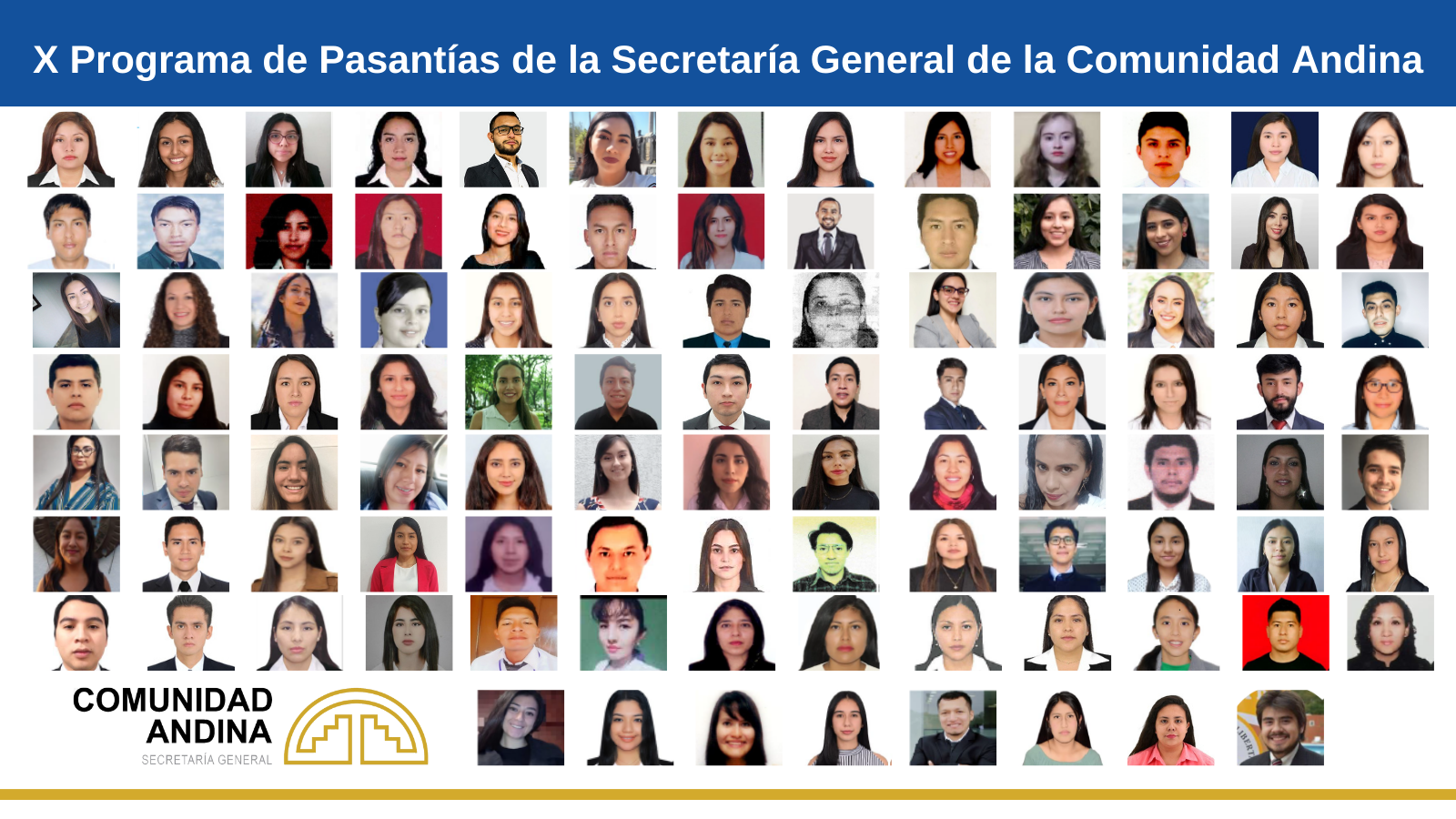 112 jóvenes profesionales de la Comunidad Andina participan en programa de pasantías 'PractiCAN'