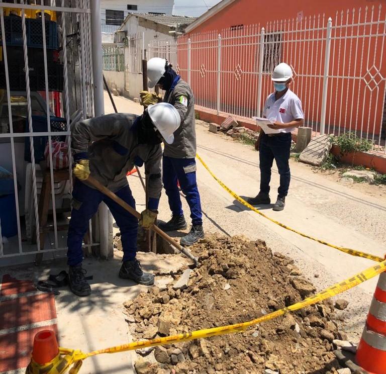 En Soledad Avanza en 50% reposición de redes eléctricas en el barrio Las Moras I Etapa – @Aire_Energia