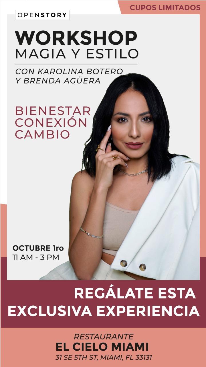 """Este 01 de octubre Workshop """"Magia y Estilo"""" en El Cielo restaurante El concepto de eventos OPENSTORY se estrena en # – @elcielomiami @gabyteconecta"""