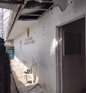 Atacaron la estación de El Carmelo, en Cajibío, Cauca: un policía resultó muerto