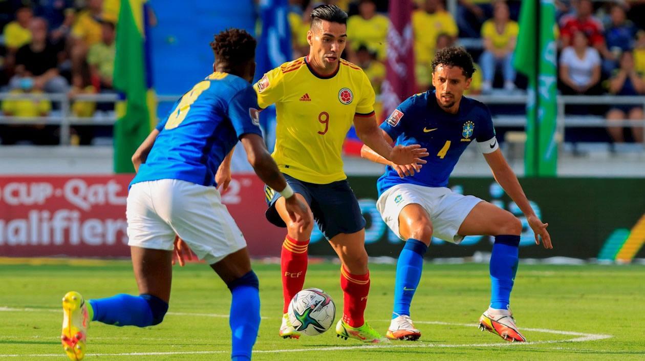 Colombia empató ante Brasil y cortó la racha de victorias de la 'canarinha'
