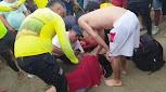 Por imprudente una mujer casi se ahoga en las playas de Buritaca