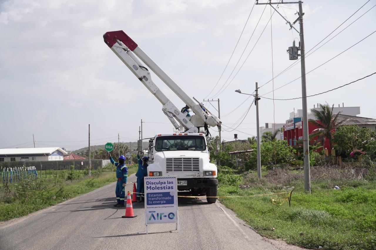 Este viernes 8 de octubre Mantenimiento de redes eléctricas en zona costera del Atlántico – @Aire_Energia