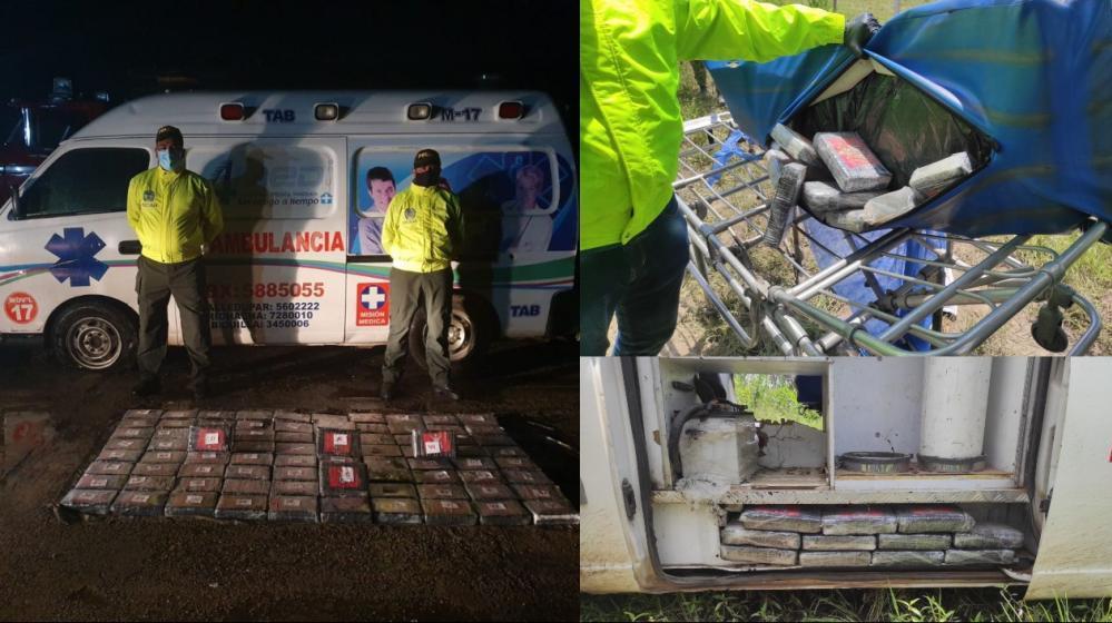 El colmo!! Descubren 90 kilos de cocaína dentro de una ambulancia en el Cesar