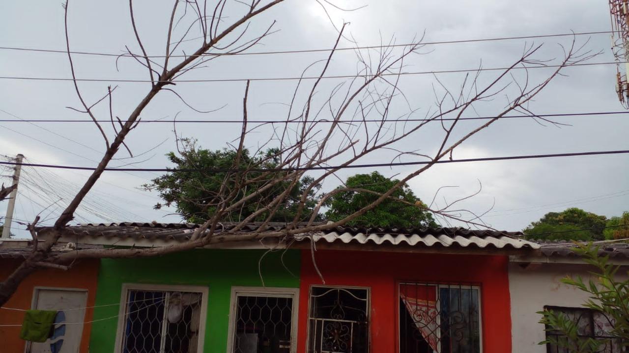 Vendaval generó daños en diversos barrios de Soledad, Atlántico