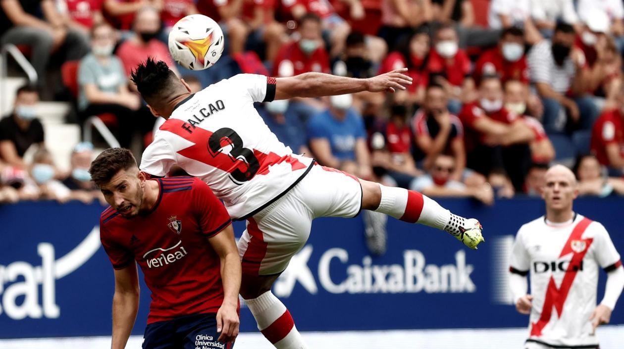 Rayo Vallecano con Falcao, sufrieron su primera derrota en Liga ante Osasuna