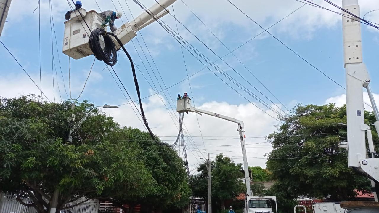 Air-e avanza en 70% en obras de remodelación de redes en El Carmen – @Aire_Energia