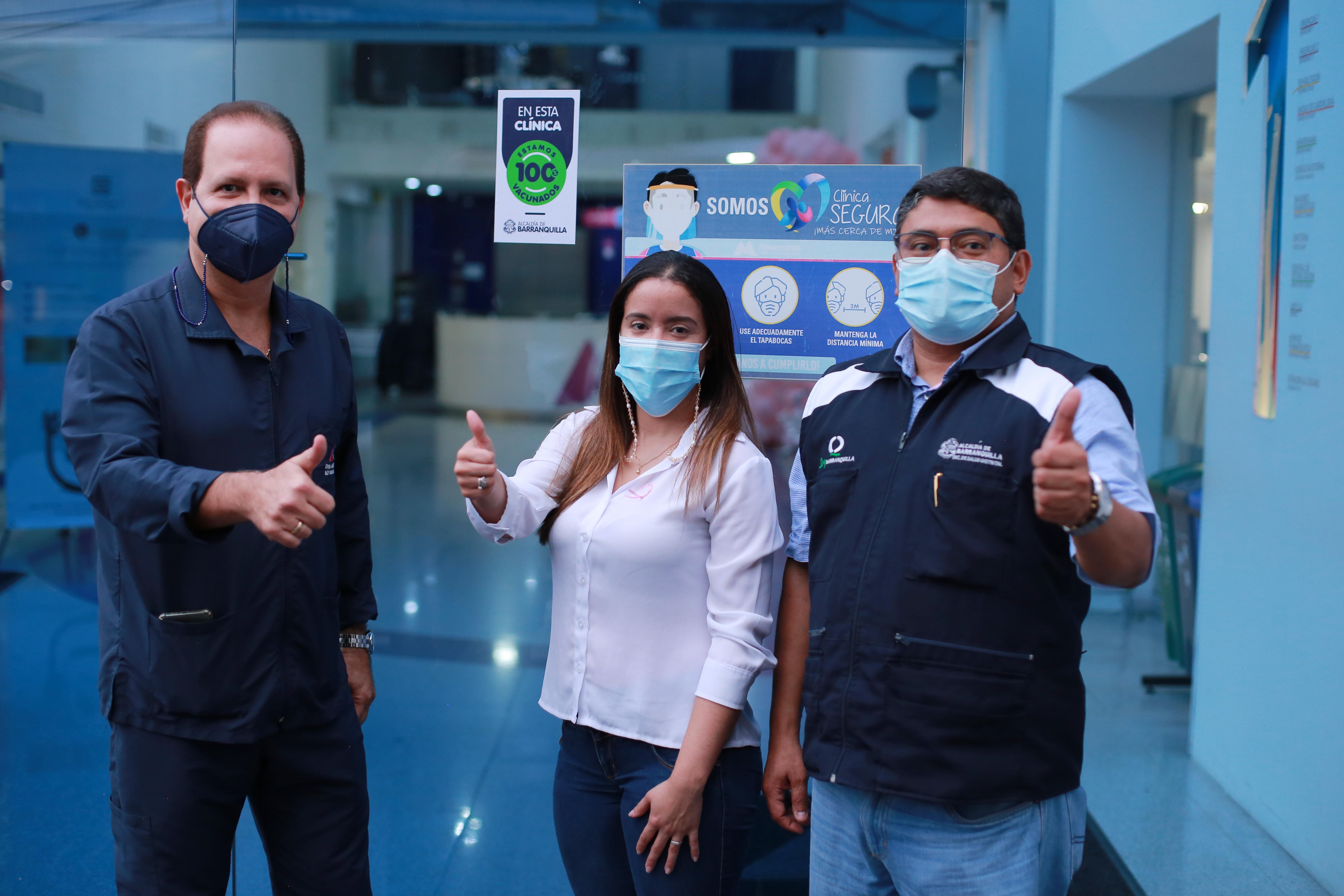 Siete clínicas de alta complejidad de Barranquilla ya tienen el 'Sello 100% Vacunado' – @alcaldiabquilla